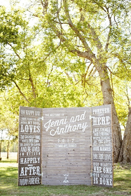 Ranch Wedding Dessert Table Backdrop