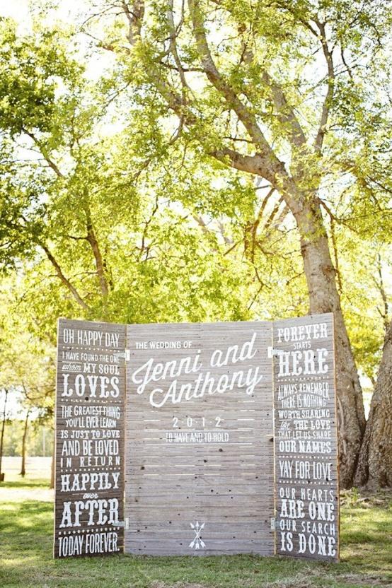 Ranch Wedding Dessert Table Backdrop