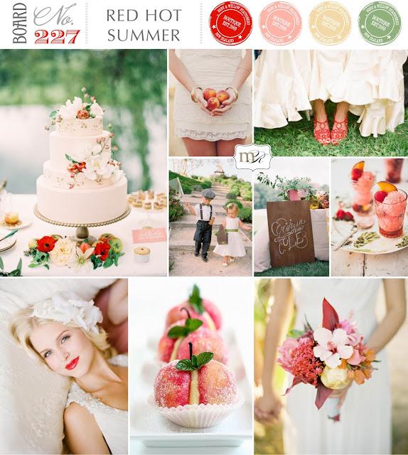 Magnolia Rouge Red Hot Summer Wedding Inspiration BoardNo227