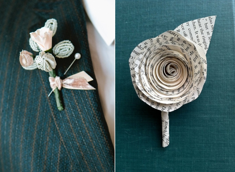 Beaded & Paper Boutonnieres