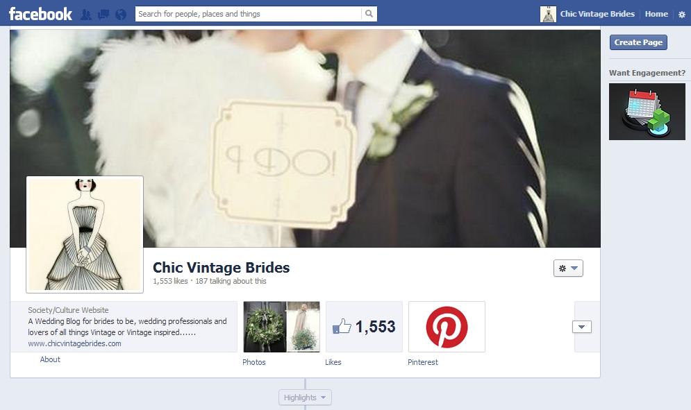 Chic Vintage Brides on Facebook