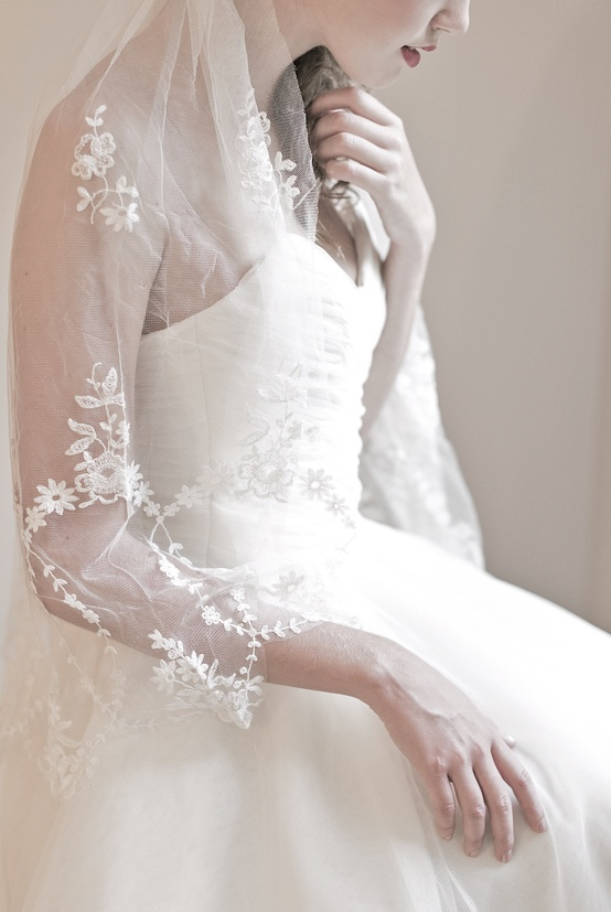 Floral Fields French Veil - Enchanted Atelier's Fall Winter 2013 Collection