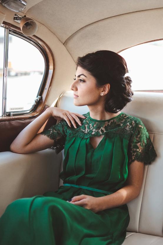 I love Wednesdays - Emerald Green Bride