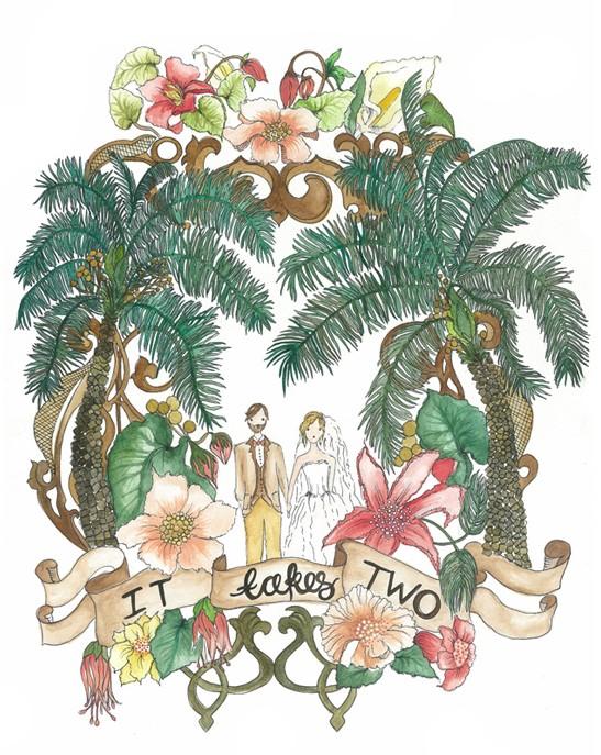 Polka Dot Bride - Kathryn Green Watercolour Wedding Stationery