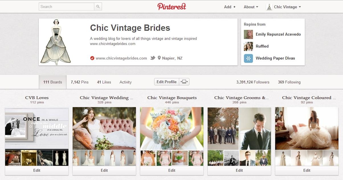 Chic Vintage Brides on Pinterest