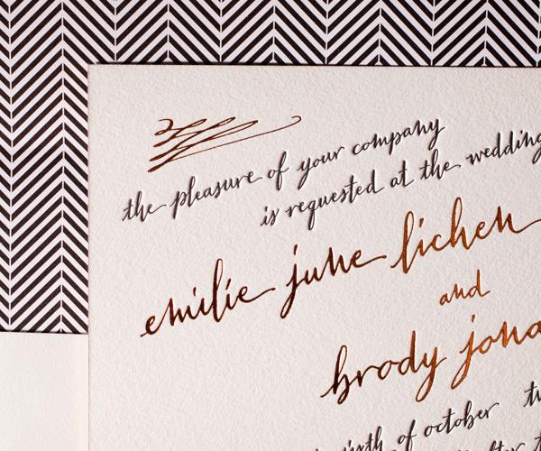 Bella Figura 2013 - Gracieux Letterpress Wedding Stationery