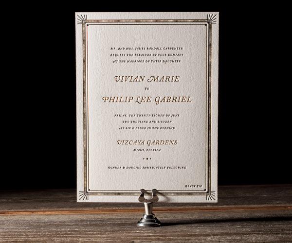 Bella Figura 2013 - Odeon Letterpress Wedding Stationery