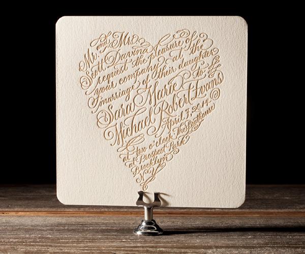Bella Figura 2013 - Amor Letterpress Wedding Stationery