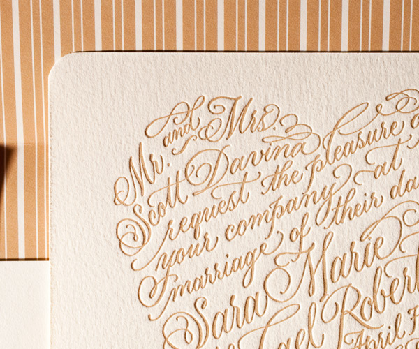 Bella Figura 2013 - Amor Letterpress Wedding Stationery