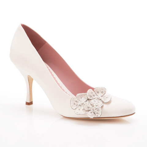 Poppy Flower Bridal Shoes from Emmy London