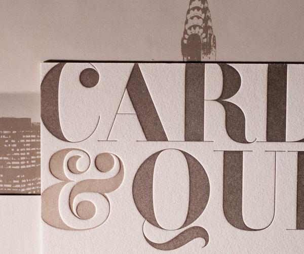 Bella Figura 2013 - Carly Letterpress Wedding Stationery