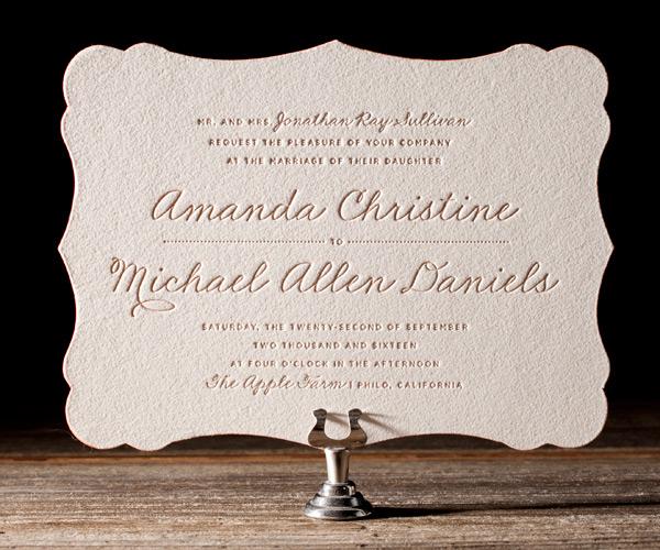 Bella Figura 2013 - Charlotte Letterpress Wedding Stationery