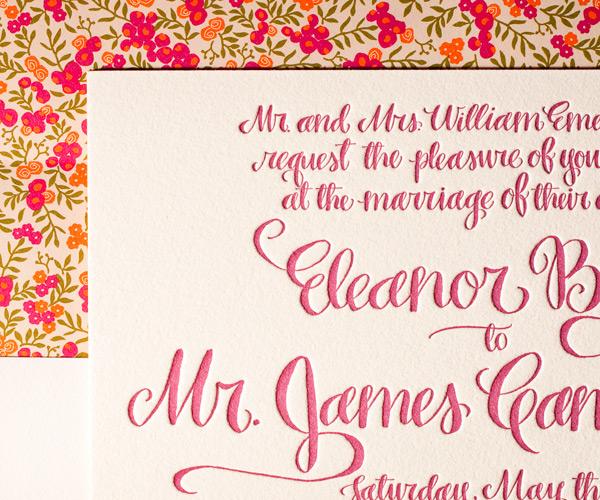 Bella Figura 2013 - Eleanor Letterpress Wedding Stationery