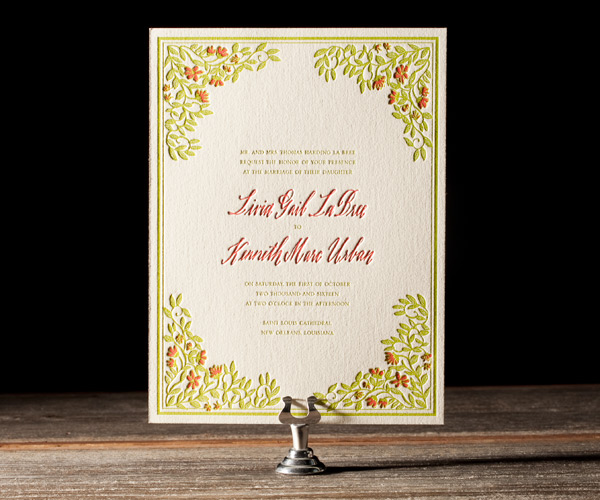 Bella Figura 2013 - French Quarter Letterpress Wedding Stationery