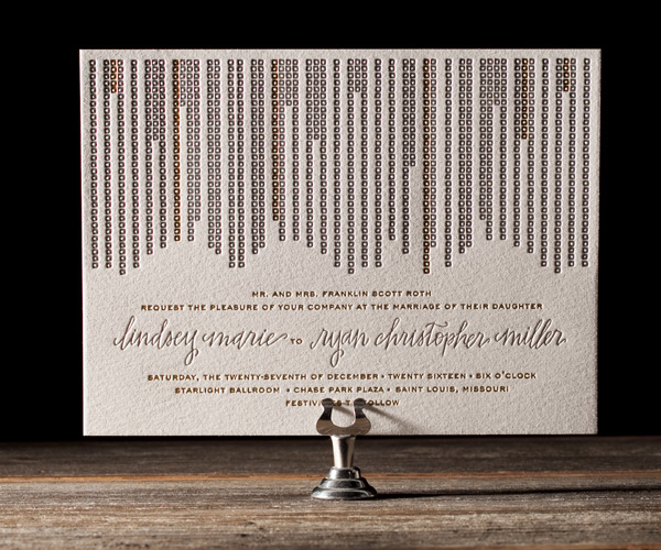 Bella Figura 2013 - Glitterati Letterpress Wedding Stationery