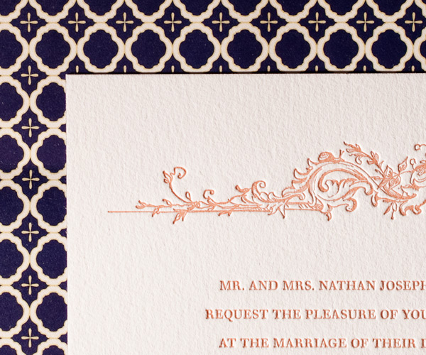 Bella Figura 2013 - Palace Garden Letterpress Wedding Stationery