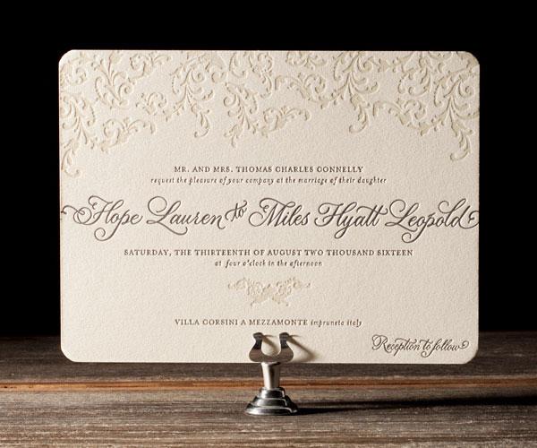 Bella Figura 2013 - Ravenna Letterpress Wedding Stationery