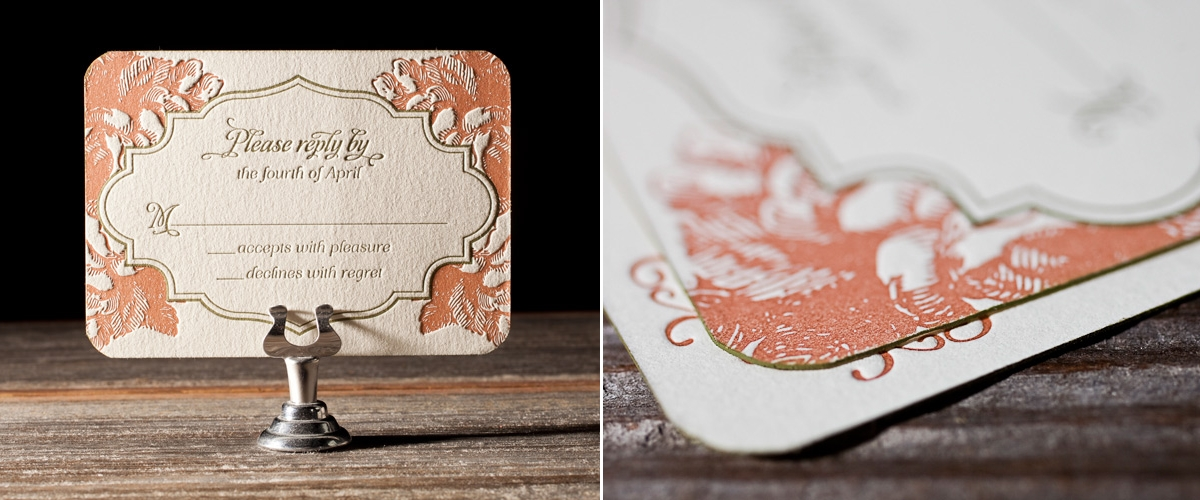 Bella Figura 2013 - Vintage Apothecary Letterpress Wedding Stationery