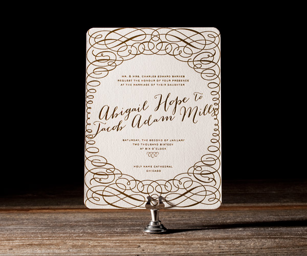 Ainsley Letterpress Invitation from Bella Figura