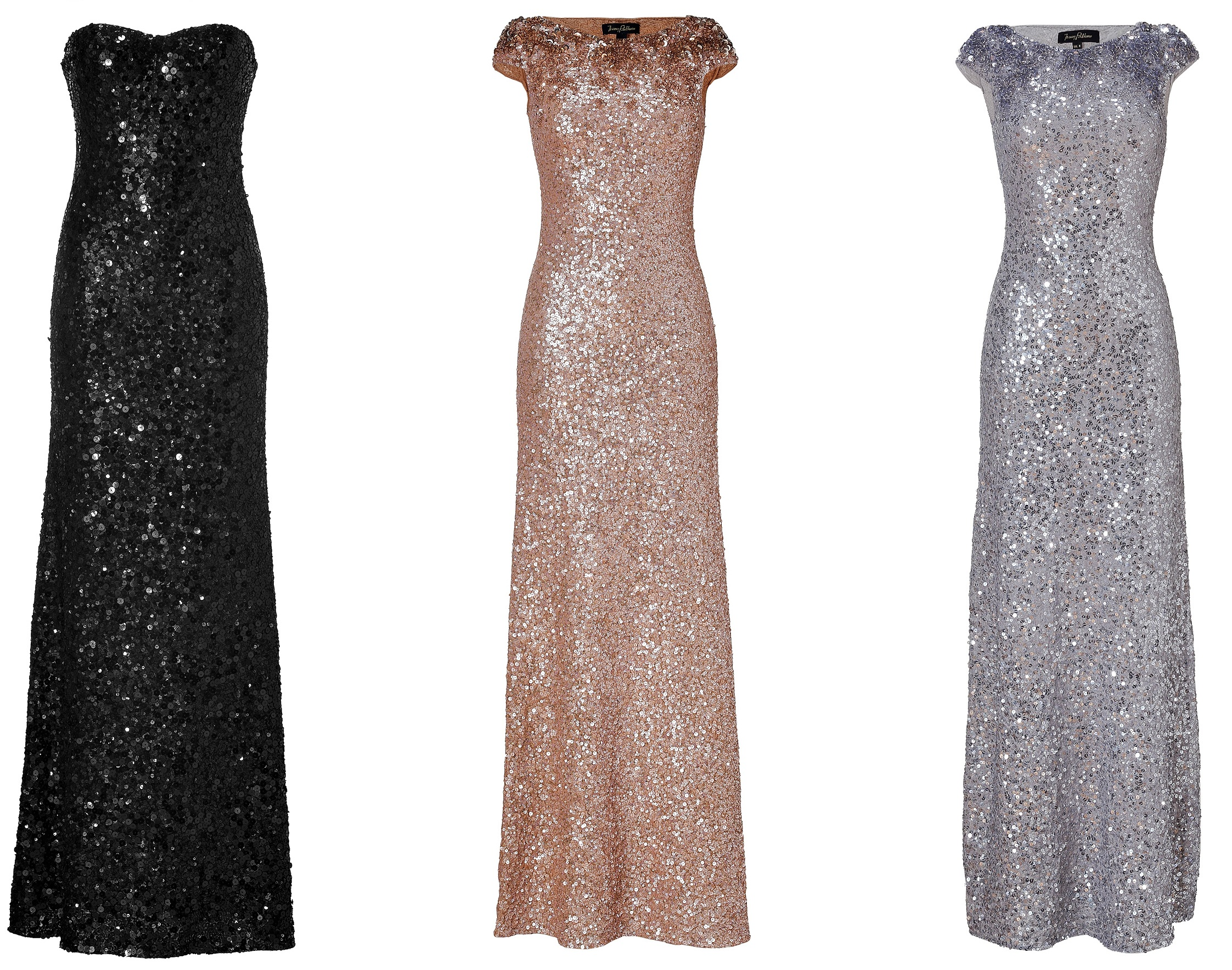 Mismatched Bridesmaids - Jenny Packham Glam Trio