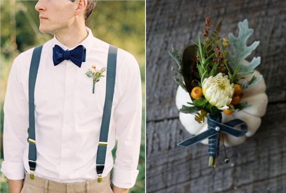 gorgeous autumn boutonnieres  chic vintage brides, Natural flower