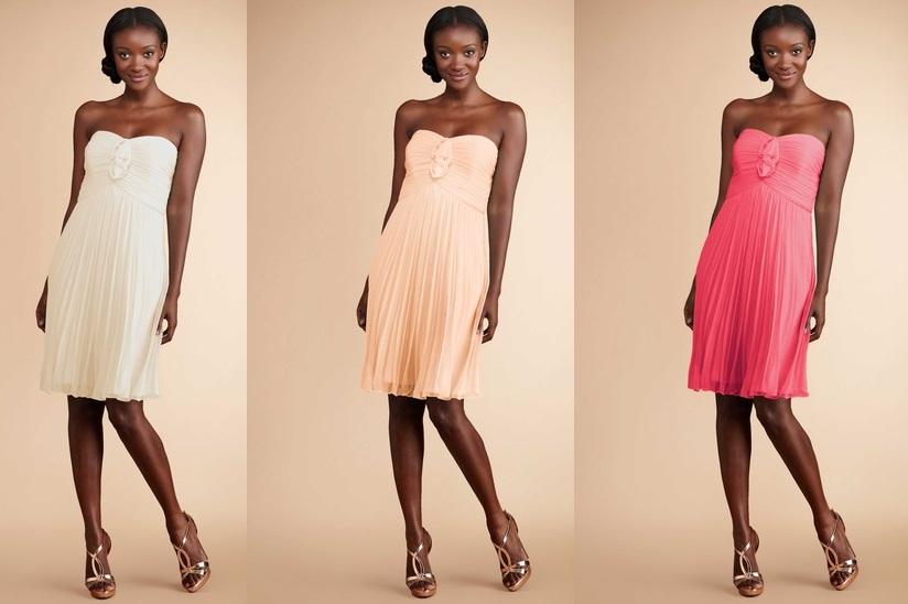 Pink Ombre Bridesmaids Dresses - Donna Morgan