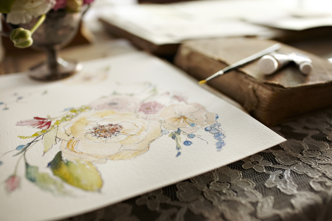 Stationery from Momental Designs Inspired by Claire Pettibone Bridal Gowns
