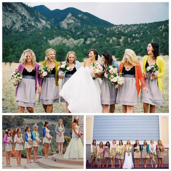 Mismatched Bridesmaids Accessories - Cardigans