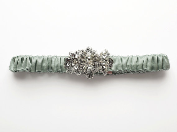 Anais Robin's Egg Silk Garter from Bridal Trousseau