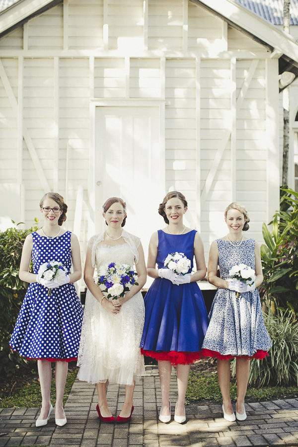 Mismatched Bridesmaids Dresses - Same Colour Different Styles