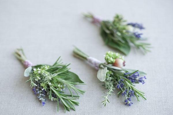 Lavender & Herb Boutonniere