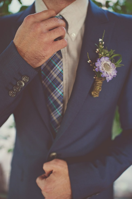 Spring Blue Boutonniere