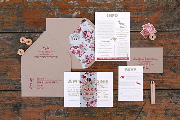 Ruby & Willow Custom Wedding Stationery Amy Shane