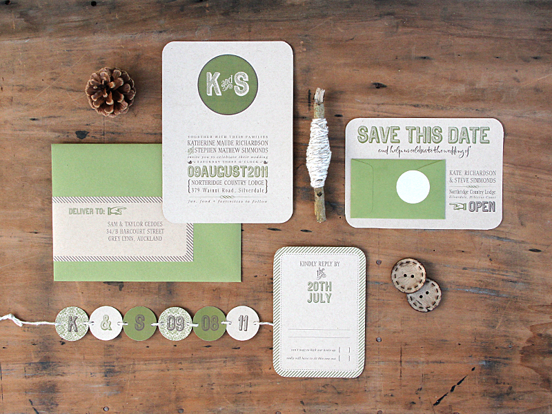 Ruby & Willow Custom Wedding Stationery Kate Steve