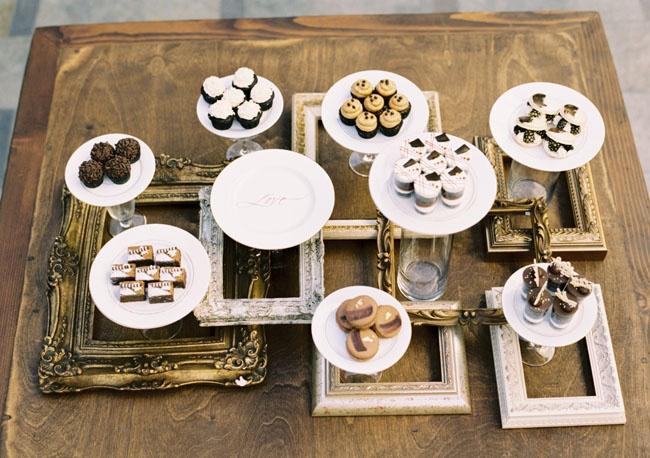 Elegant Dessert Table Using Picture frames