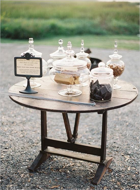 Elegant Smores Table