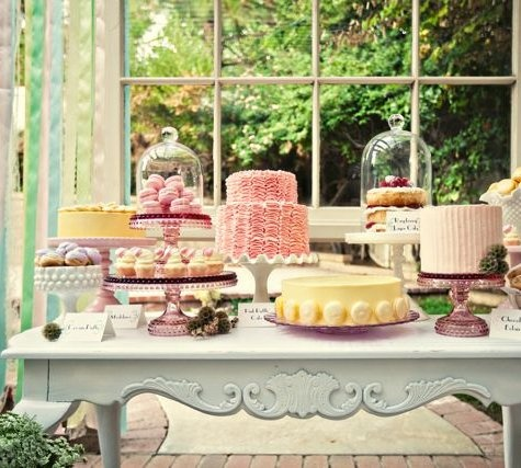 Pretty Cake Dessert Table