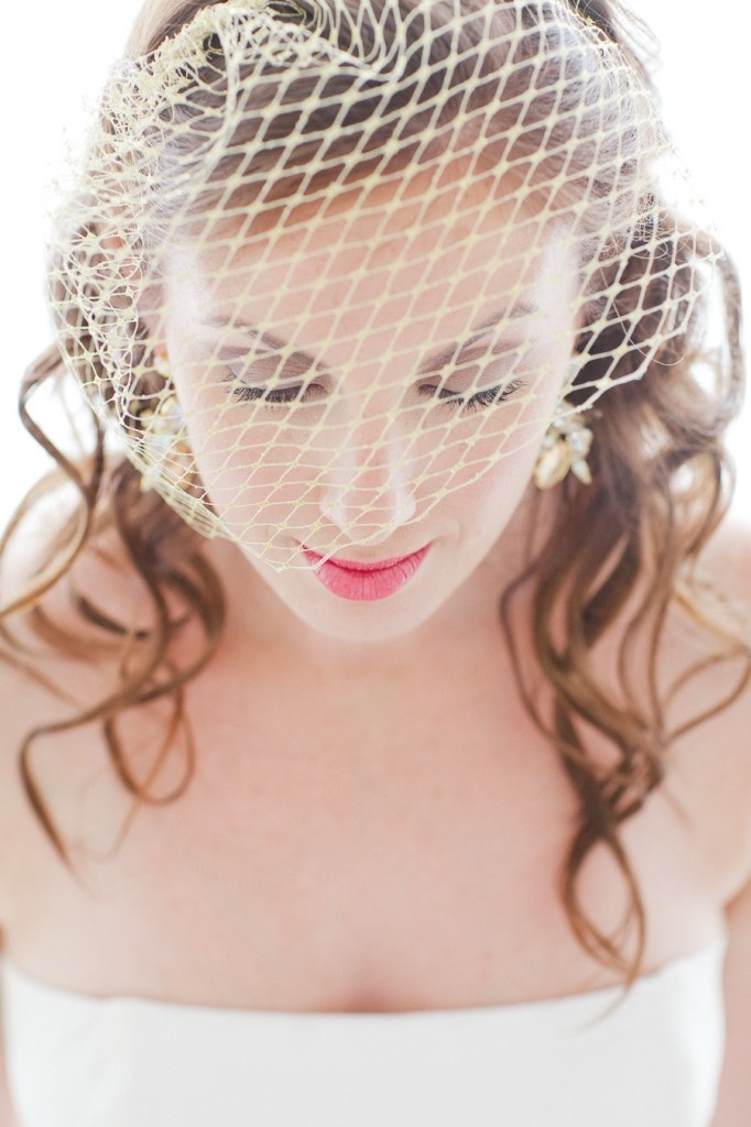 Birdcage Veil in Gold