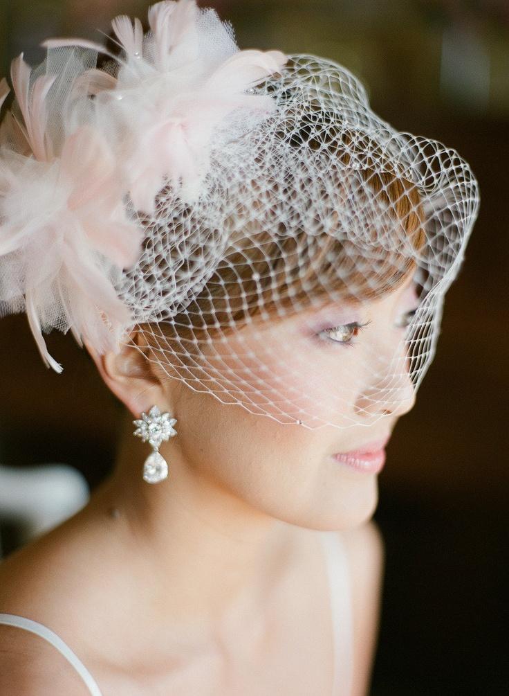 610641ab6c2be Wedding Wisdom - Choosing The Perfect Birdcage Veil By Percy ...