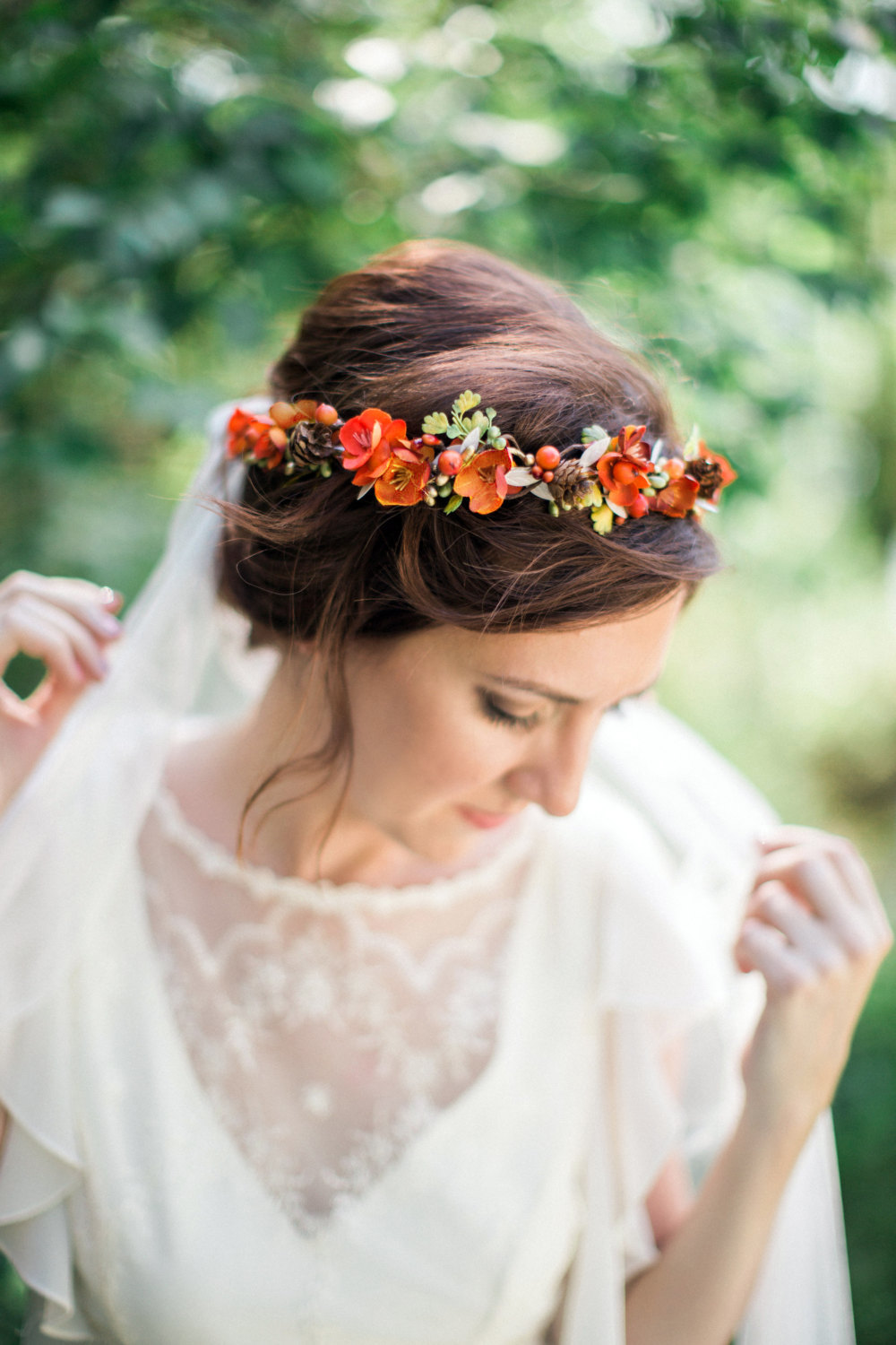 Fall Flower Crown & Veil