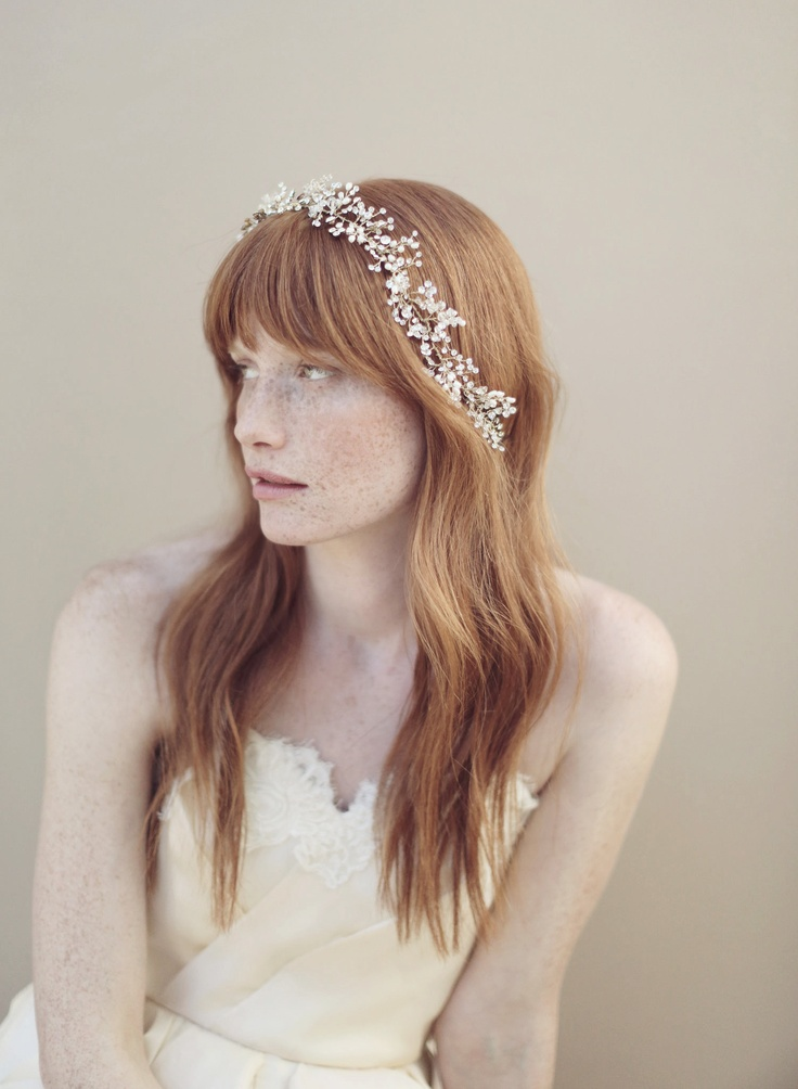 Baby's Breath Crystal Flower Crown