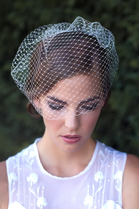 Marilyn Birdcage veil from Percy Handmade