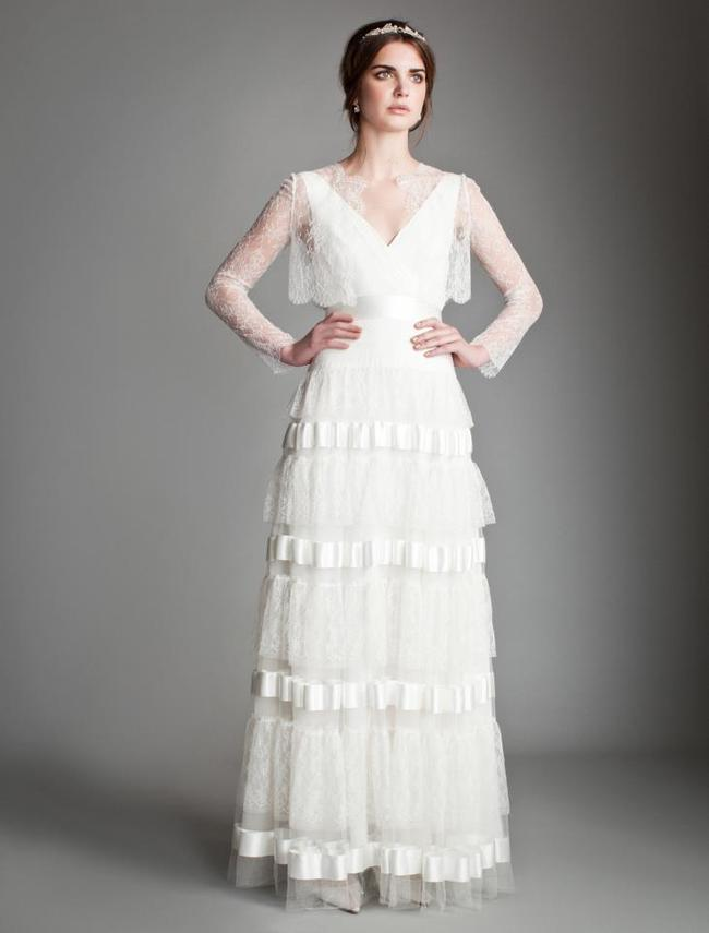 Temperley_London Spring 2014 Bridal Collection - Orchid with Amatha Lace Jacket