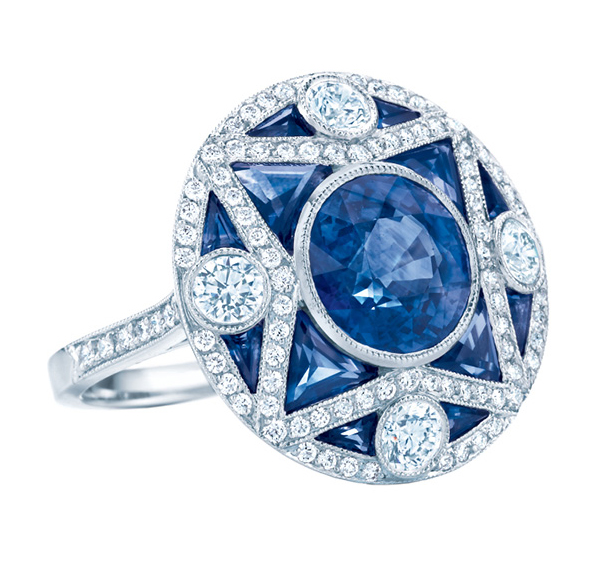 Great Gatsby Collection Sapphire Ring from Tiffany & Co