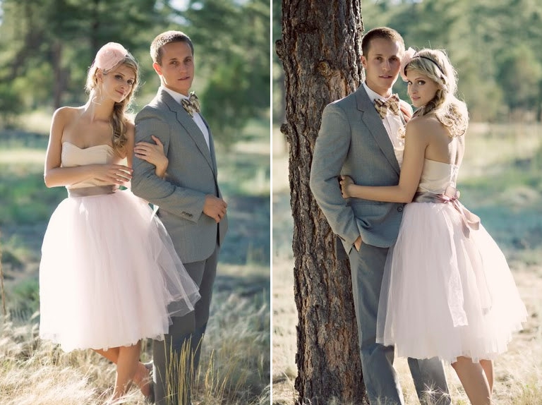Blush Peach Sweetheart Wedding Dress from Ouma
