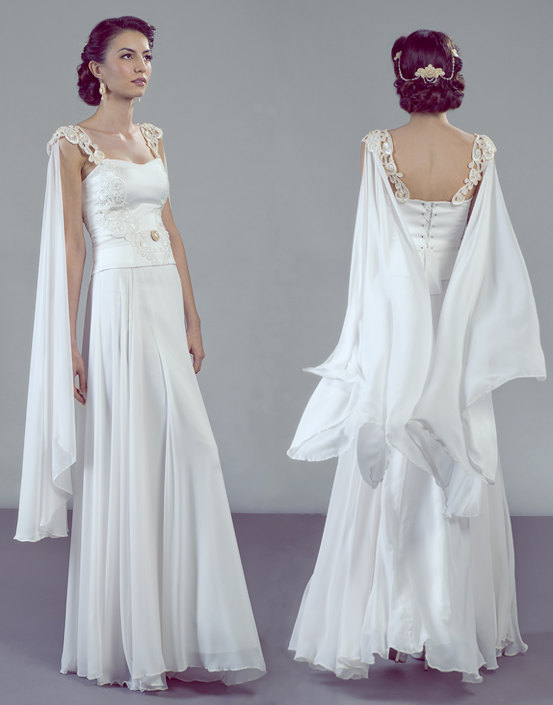 Aurora Wedding Dress Ensemble from Petite Lumiere