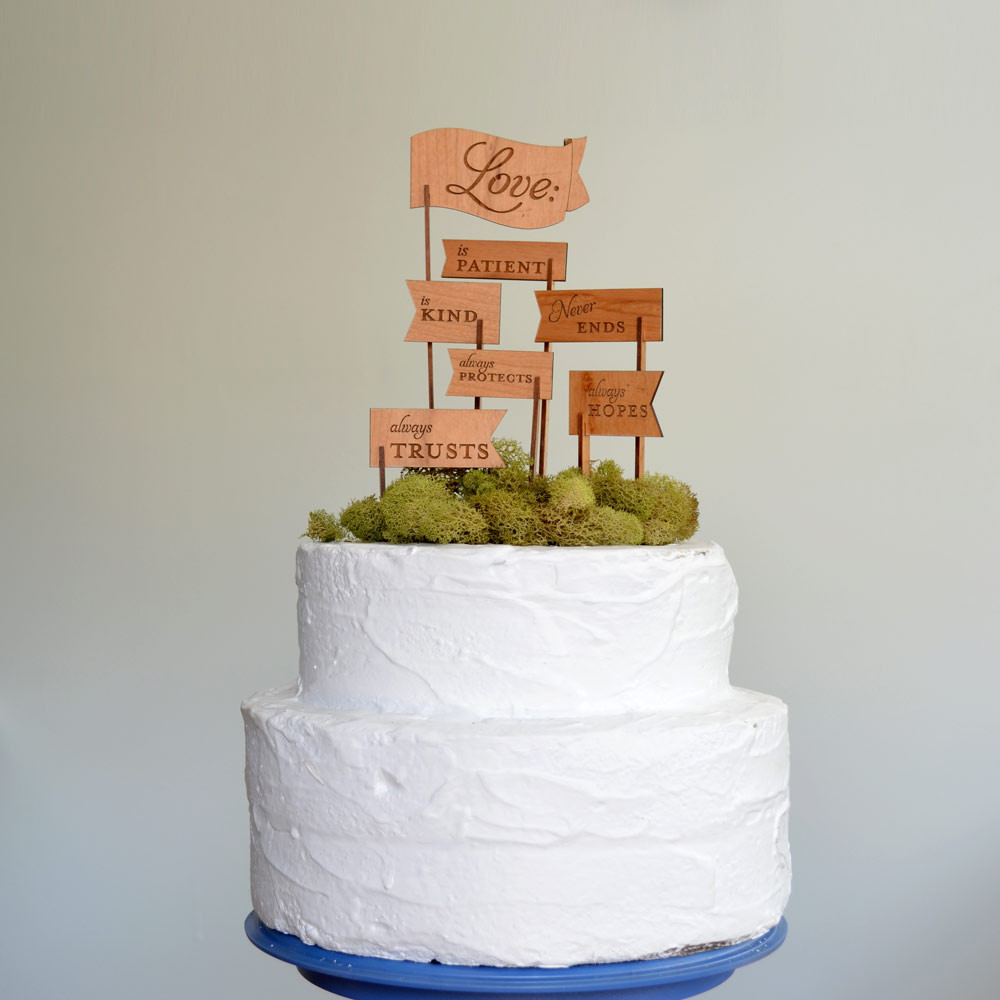 Love Is Wedding Cake Topper