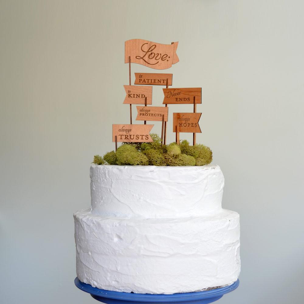 Love Is Wedding Cake Topper