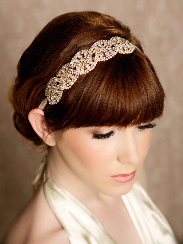 CARMELLA GOLD - Gold Crystal Headband from Gilded Shadows