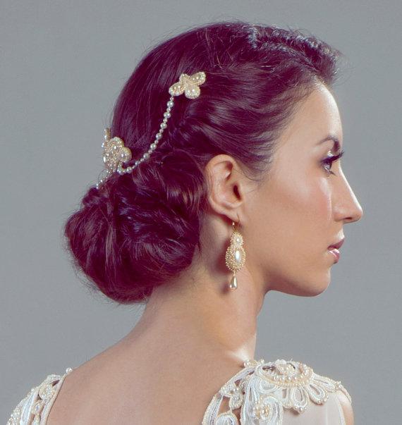 Lucrezia Unique Bridal Headpiece from Petite Lumiere